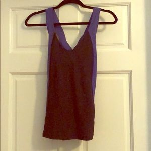 Lululemon Navy and Colombia Blue Tank